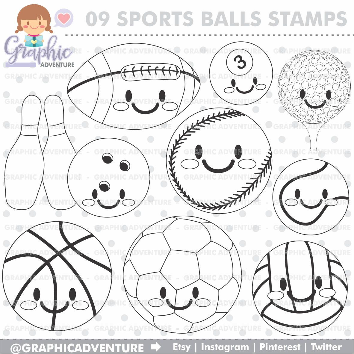 Sport Stamp Commercial Use Digi Stamp Digital Image Party