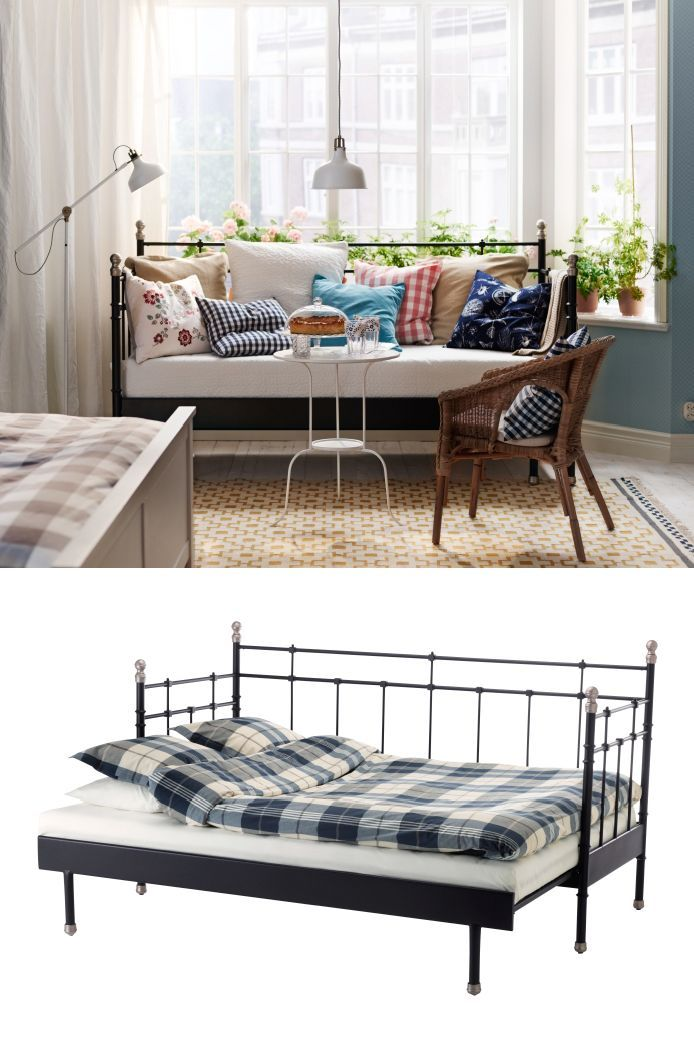 Create a welcoming bedroom away from home for guests with the SVELVIK daybed. It…