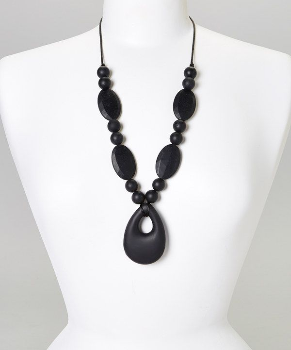 Look at this Black Zoe Teething Pendant Necklace - Women on #zulily today!