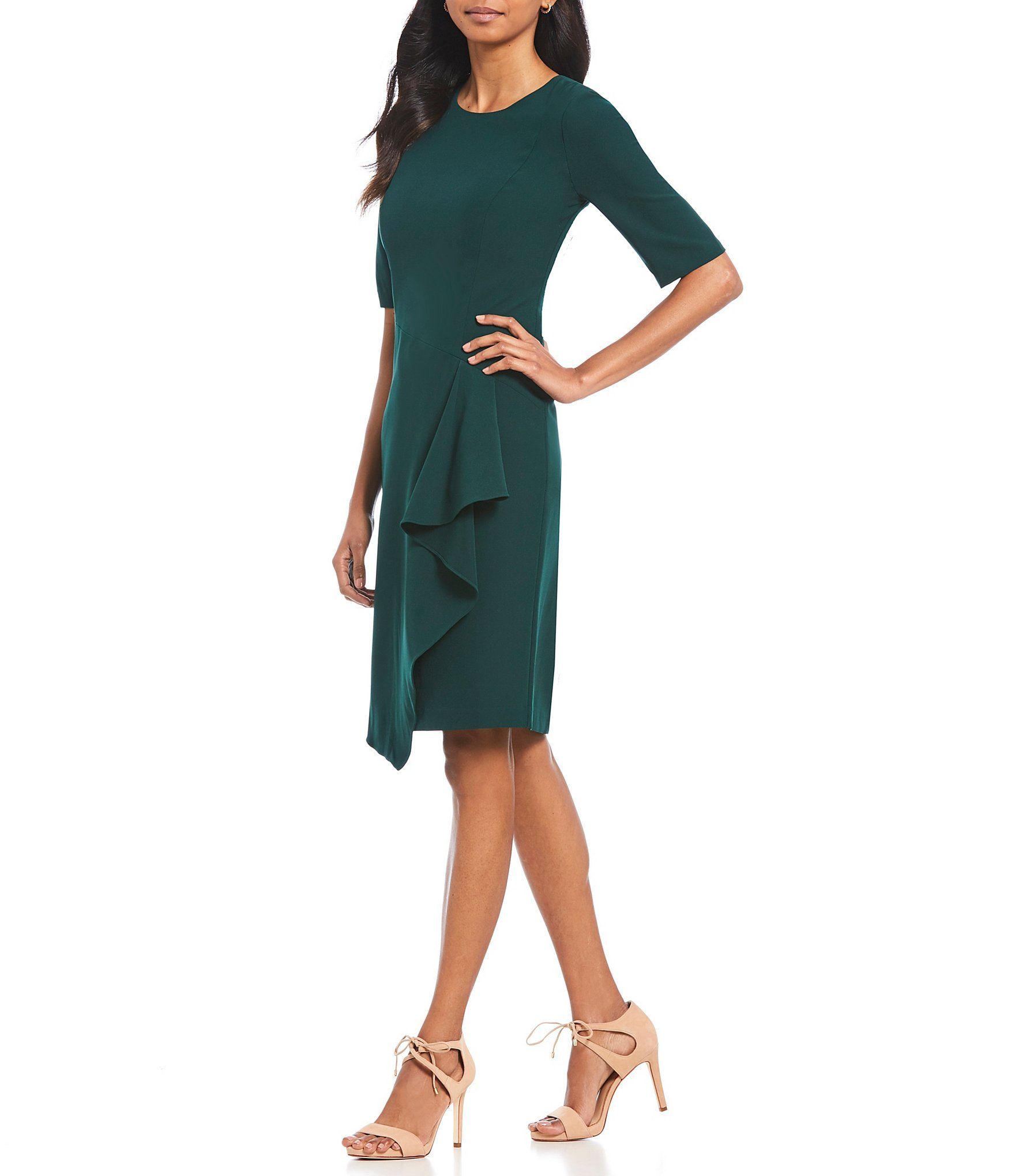 7828656b444 Shop for Maggy London Ruffle front Crepe Sheath Dress at Dillards.com.  Visit Dillards.com to find clothing