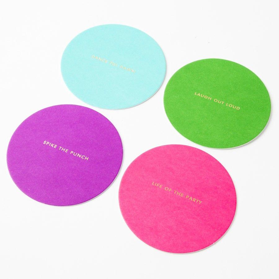 Multi-Color Coaster Set by Kate Spade $19.95