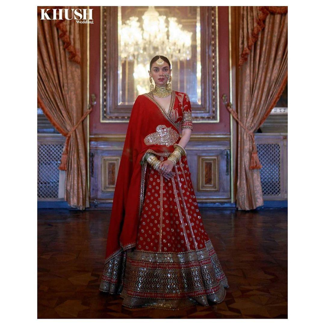 Aditi Rao Hydari in bridal avatar for Khush Weddin
