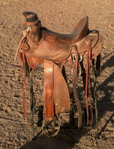 Details about Used McCall ranch roping buckaroo saddle NEW