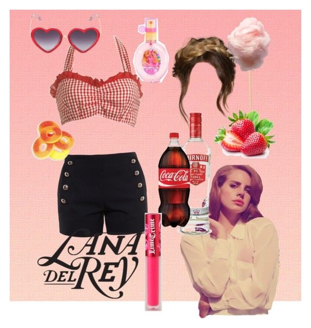 """Lana del Rey"" by robin-leigh-berg on Polyvore featuring Wet Seal, Chloé, Lime Crime and Markus Lupfer"