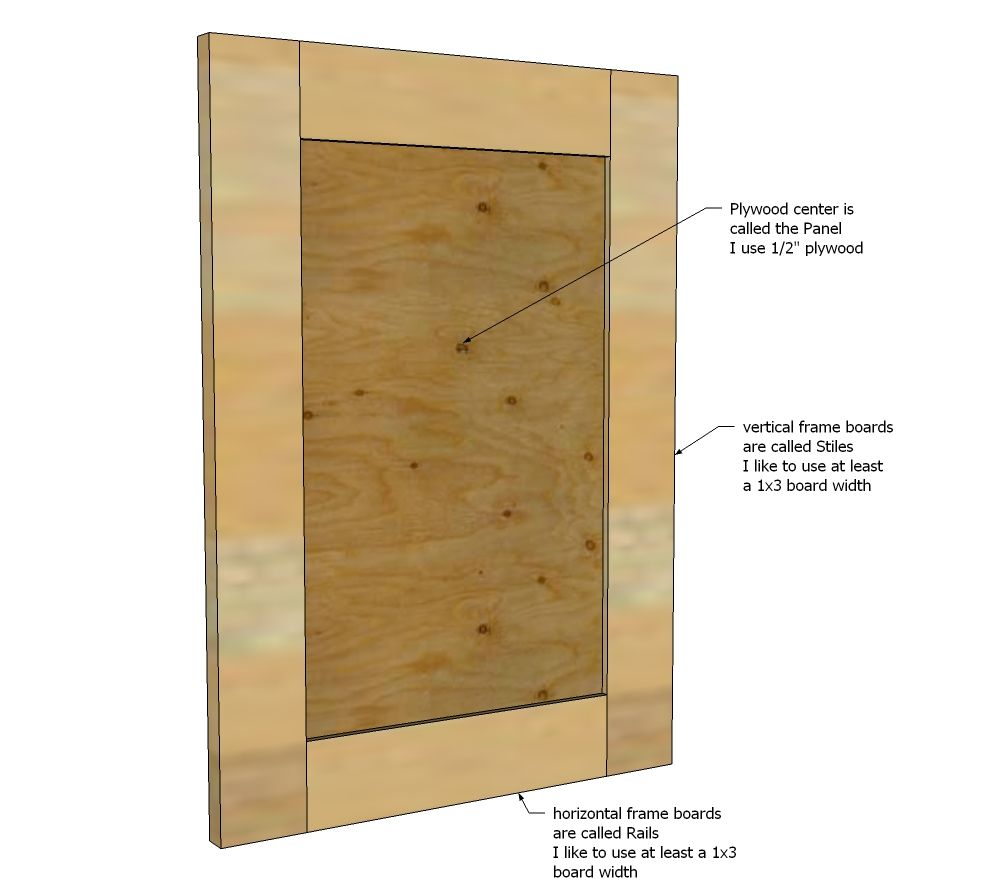 Ana White  Build A Easy Frame And Panel Doors  Free And Easy Diy Project