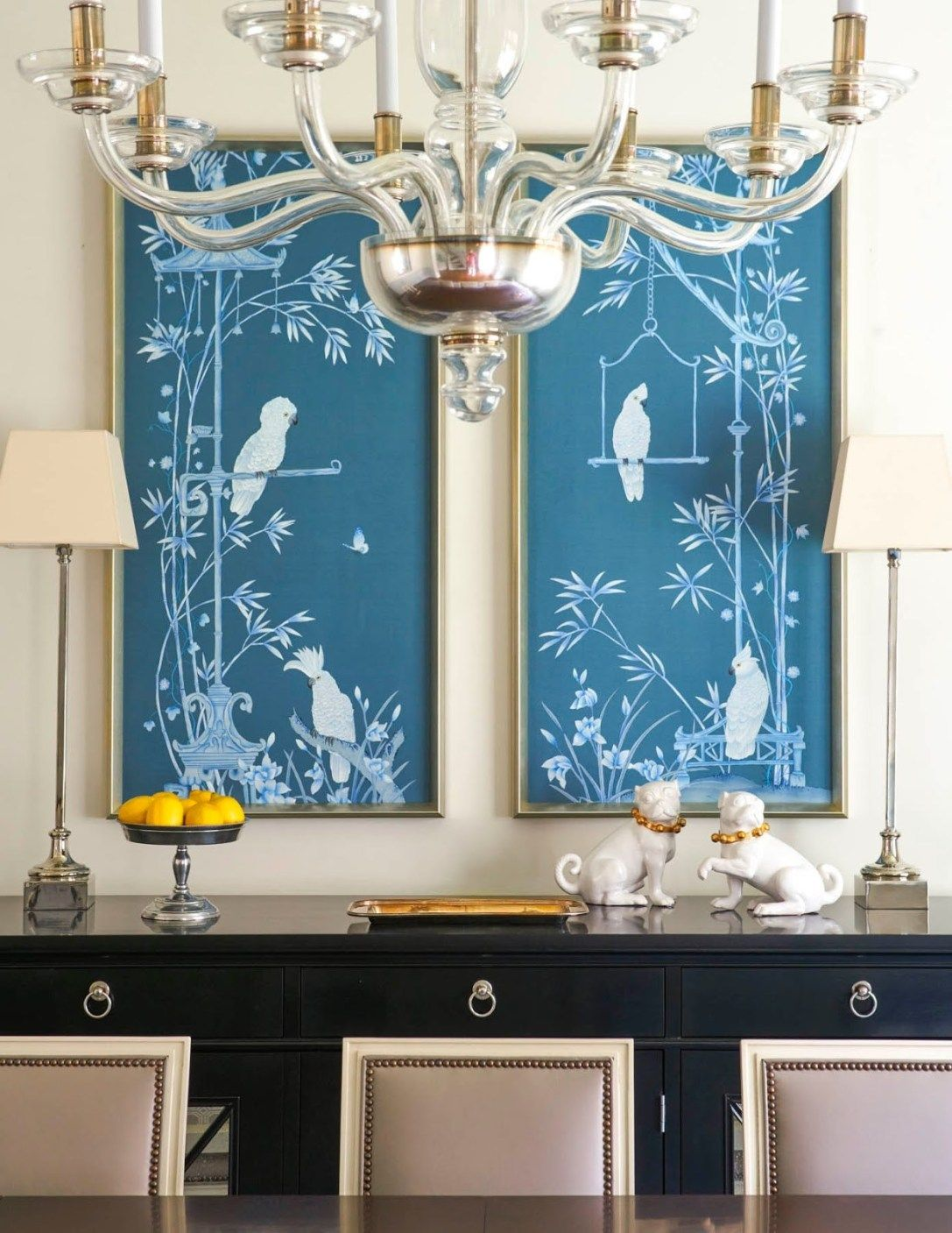 30 Awesome Picture of Chinoiserie Dining Room Blue