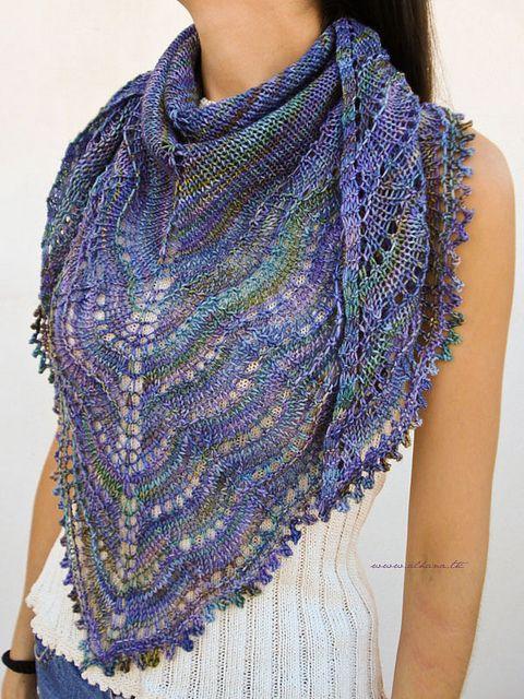 Связать шарф шаль спицами
