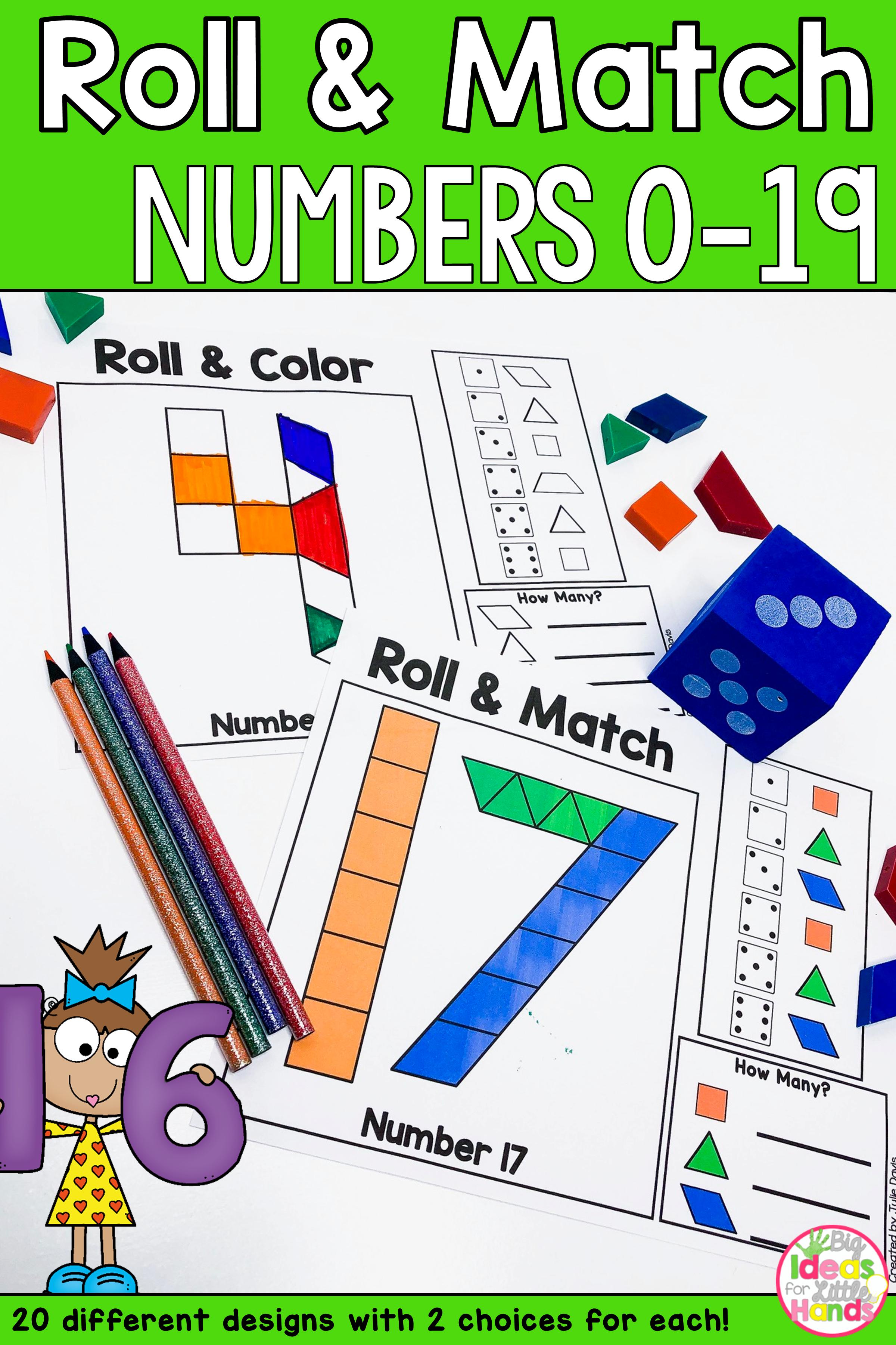 Pattern Blocks Mat Numbers Math Games