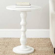 Small 12 White Sofa End Side Bedside Table Nightstand Drawer