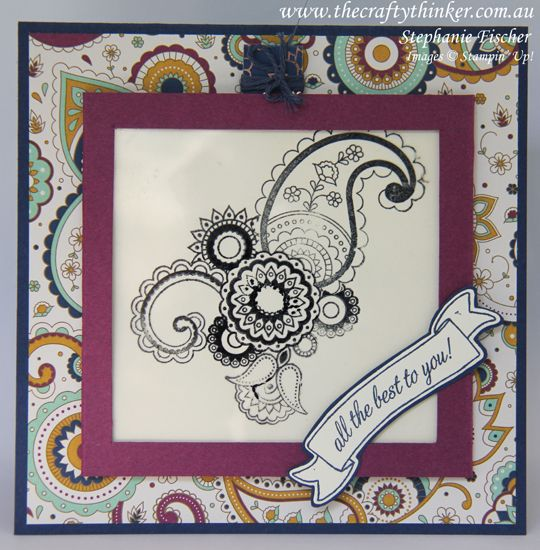 Stampin Up, #thecraftythinker, Magic Card, Paisleys & Posies, Fun Fold