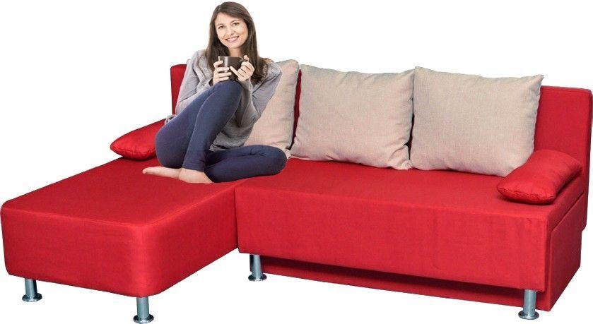 VCM Ecksofa Magota mit Schlaffunktion, Rot Jetzt bestellen unter - wohnzimmer sofa rot