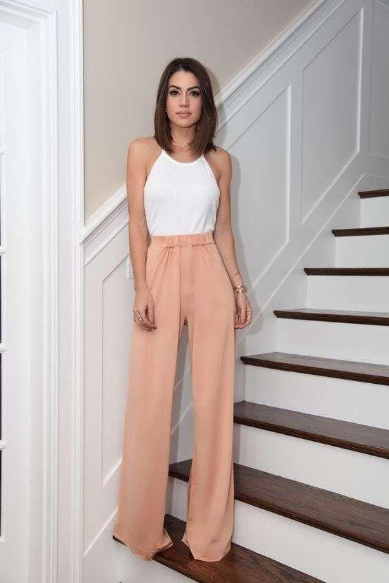 Look con pantaloni a palazzo (Foto)  5e3fa6c4160f