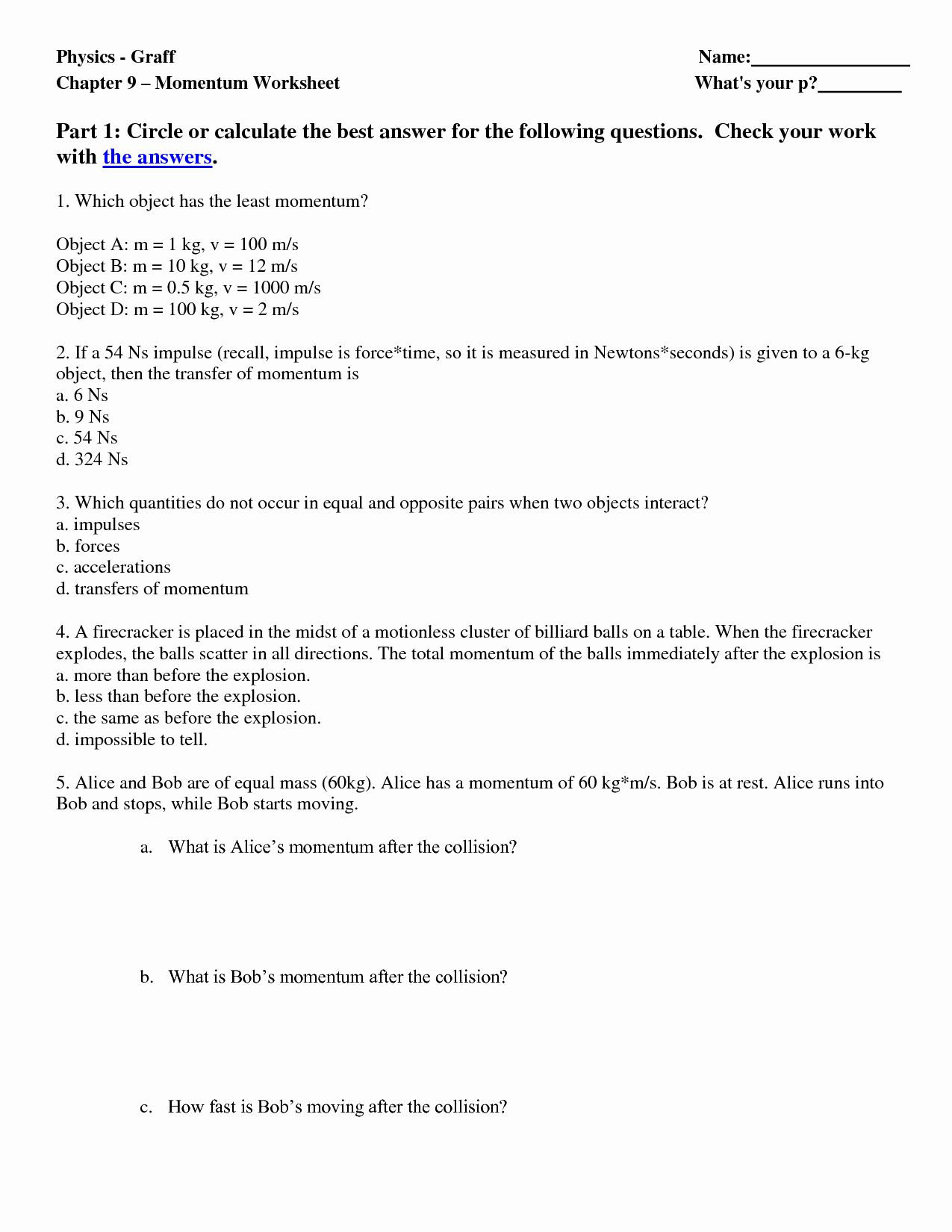 50 Energy Transformation Worksheet Answer Key In