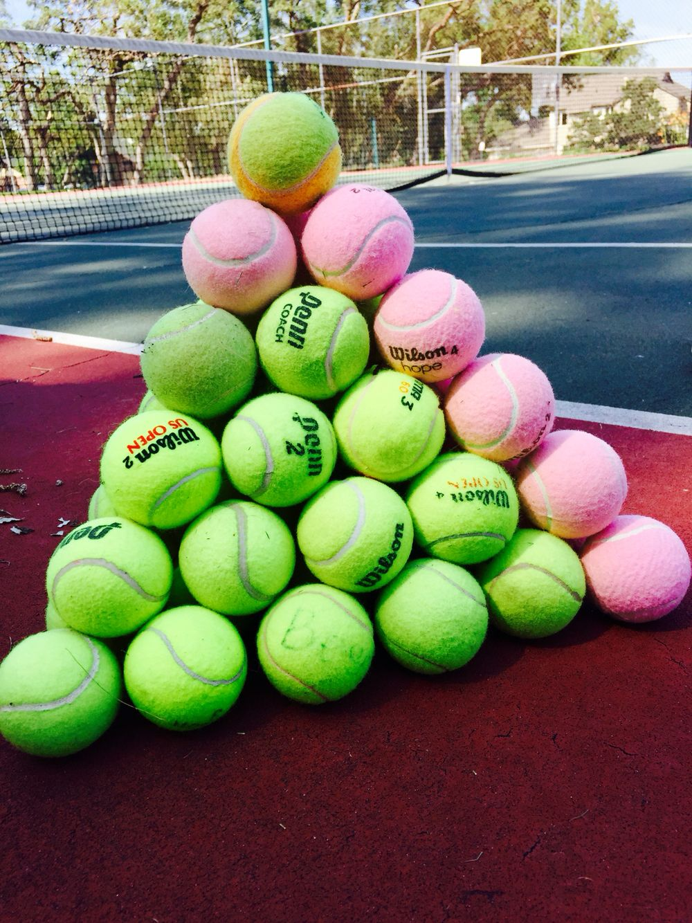 Every Year My Tennis Kids Build A Tennis Ball Pyramid So Of Course I Had To Take A Picture