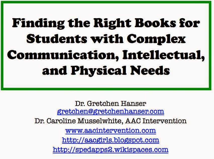AAC Girls: Finding the Right Books! ISSAC Handout