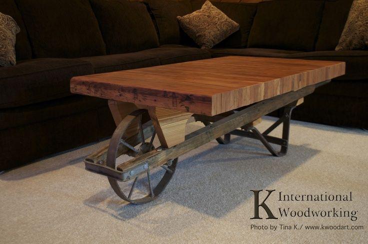 Wheelbarrow Bowling Lane Coffee Table Wheelbarrows Pinterest Bench - Wheelbarrow coffee table