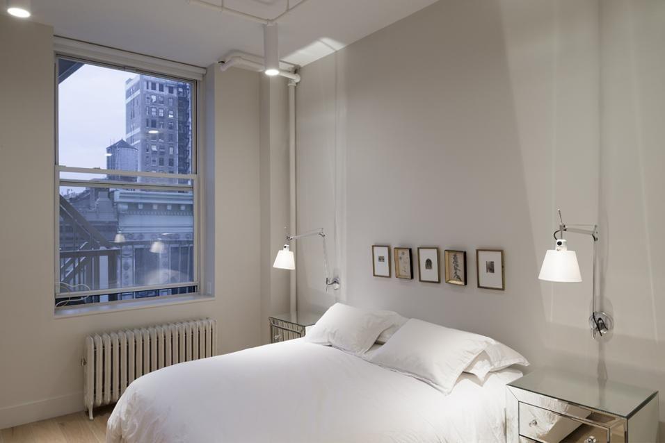 Loft chic nella Grande Mela Interni di camera da letto