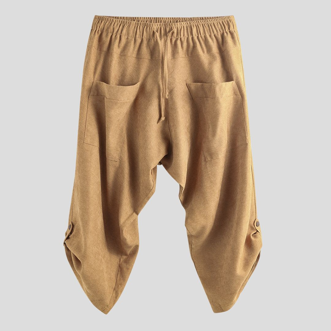 Incremento nazionalismo Per quanto riguarda le persone  Harem Pantaloni con coulisse allentata al polpaccio in stile etnico casual  da uomo in velluto a coste | Stile etnico, Uomini alla moda, Siti di moda