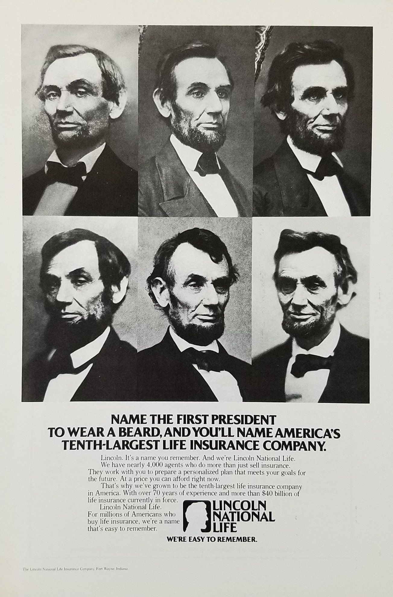 fullsize style lincoln wall calendar insurance kv author item collection national life company the creator