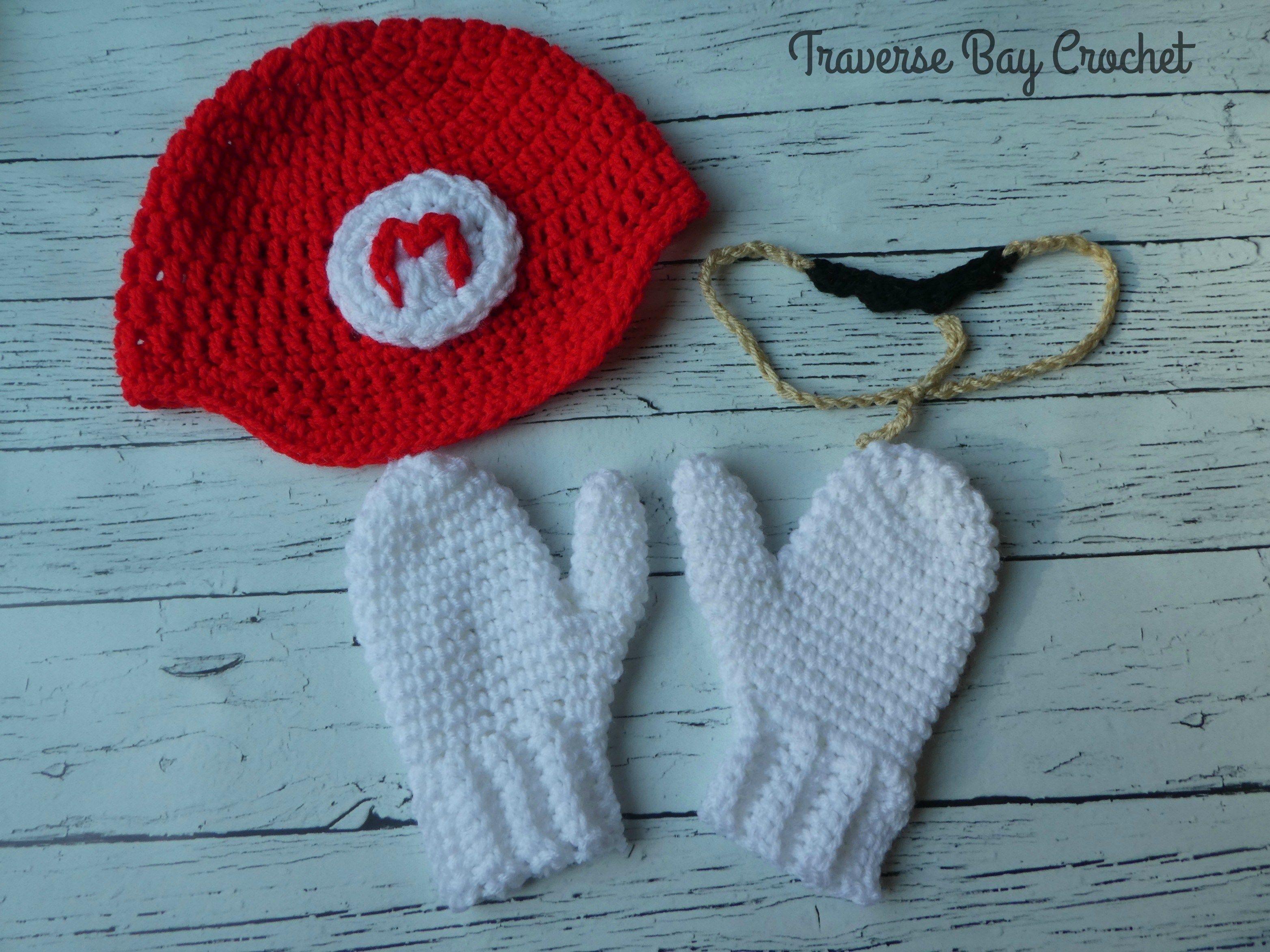 Mario And Luigi Hat Mustache Mitten Crochet Costume Crocheting
