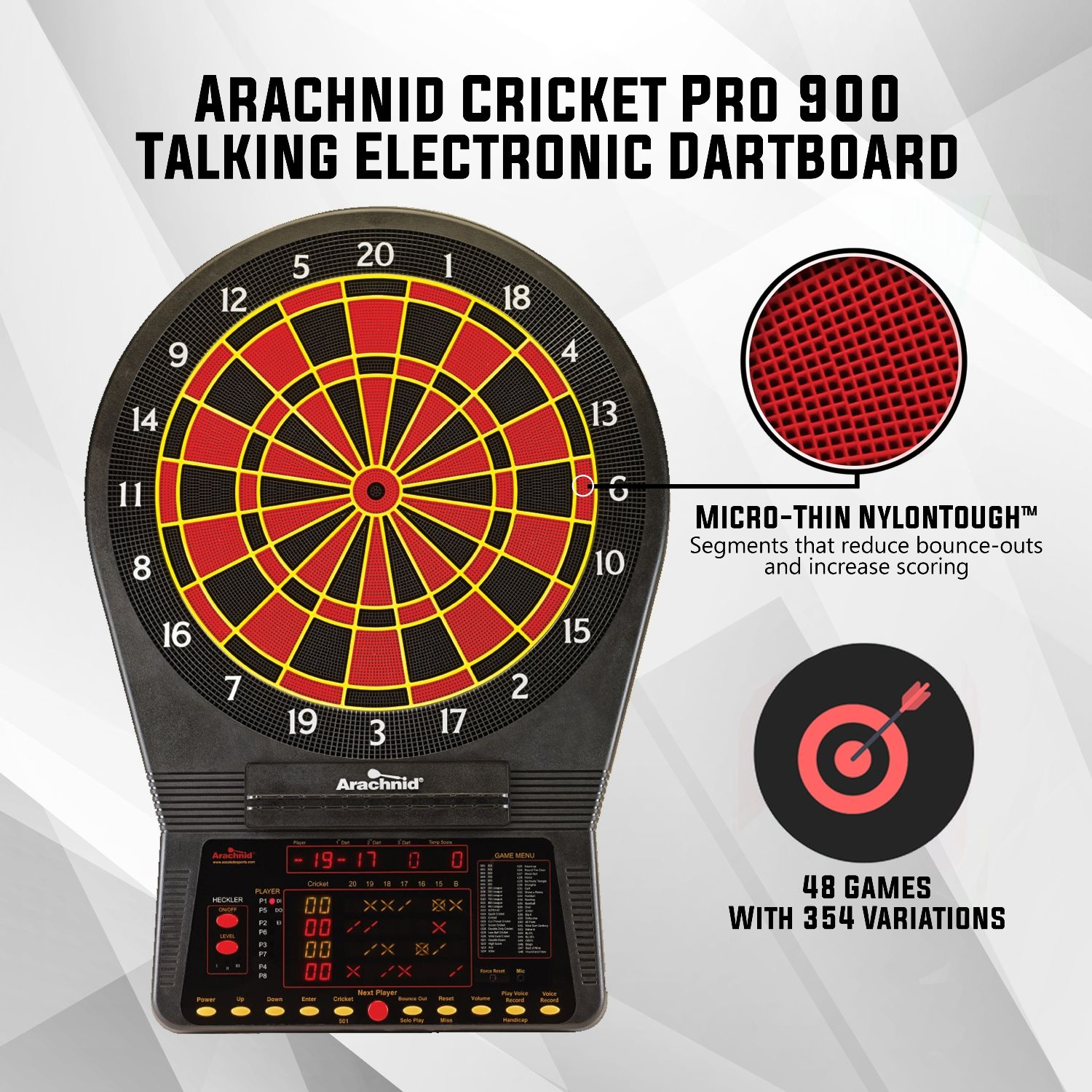 With the new and improved Arachnid Cricket Pro 900 Talking