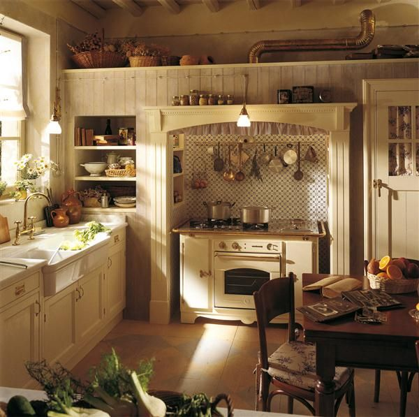 Captivating Image Detail For  English Country Kitchen Style In Beige And White 3  Fabulousu2026