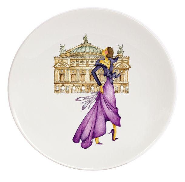 From Paris with Love Porcelain Plates #3  Le Paris de Madame-Ritz Haviland (3)