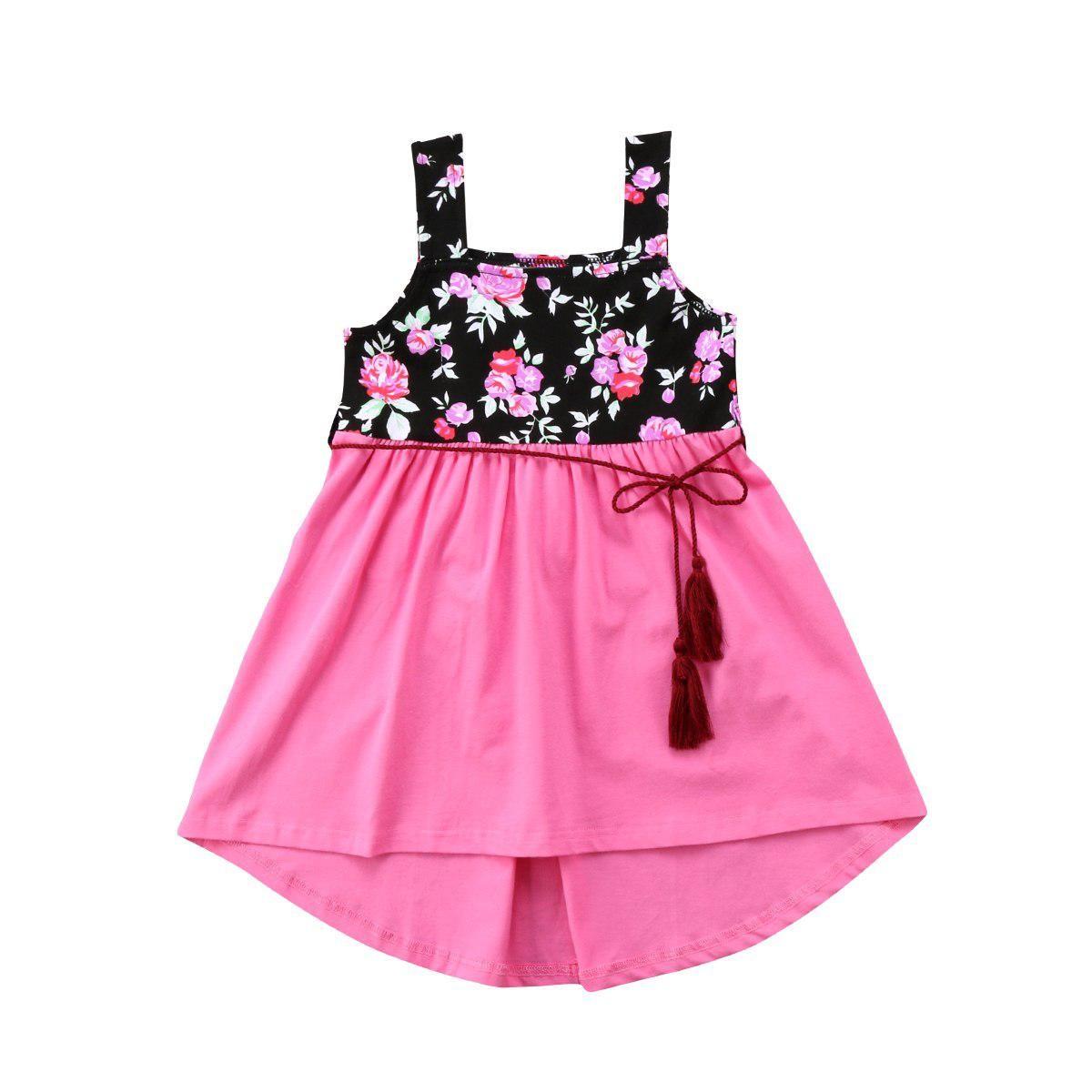 Newborn Kids Baby Girls Cotton Party Pageant Sleeveless Dress Sundress Clothes