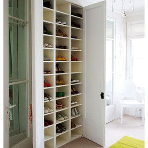 Attirant Build One Tall And Skinny Set Of Shoe/accessory Cubbies Right Inside The  Closet Door.