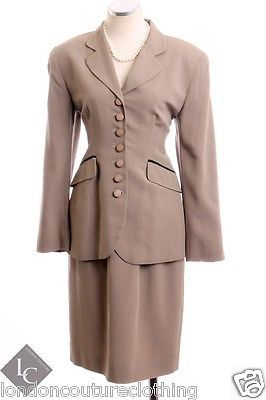ba76a4333a99 VINTAGE CHRISTIAN DIOR SKIRT SET SUIT WOOL BLEND CLASSIC STYLING 8 MEDIUM  MED M