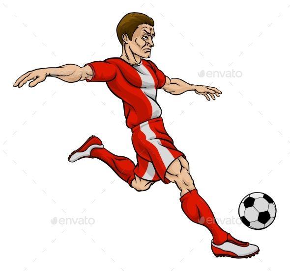 Football Soccer Player Cartoon Character Soccer Players Football Soccer Soccer
