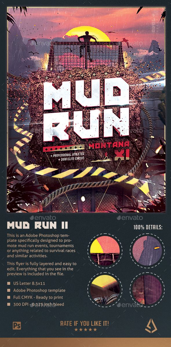 Mud Run Flyer Ii Obstacle Race Template This Is A Mud Run Flyer