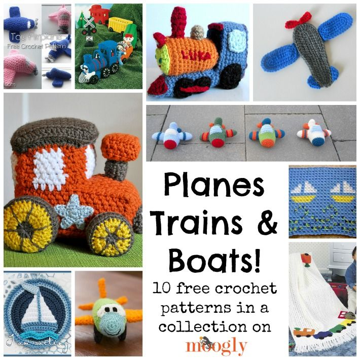 Free Crochet Patterns On The Move: Planes, Trains, And