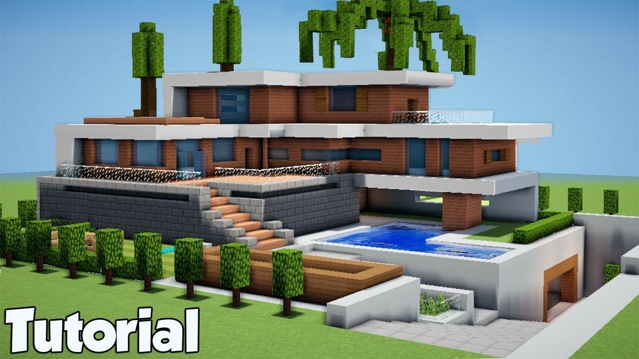 Awesome Minecraft Modern House Tutorial  Minecraft modern