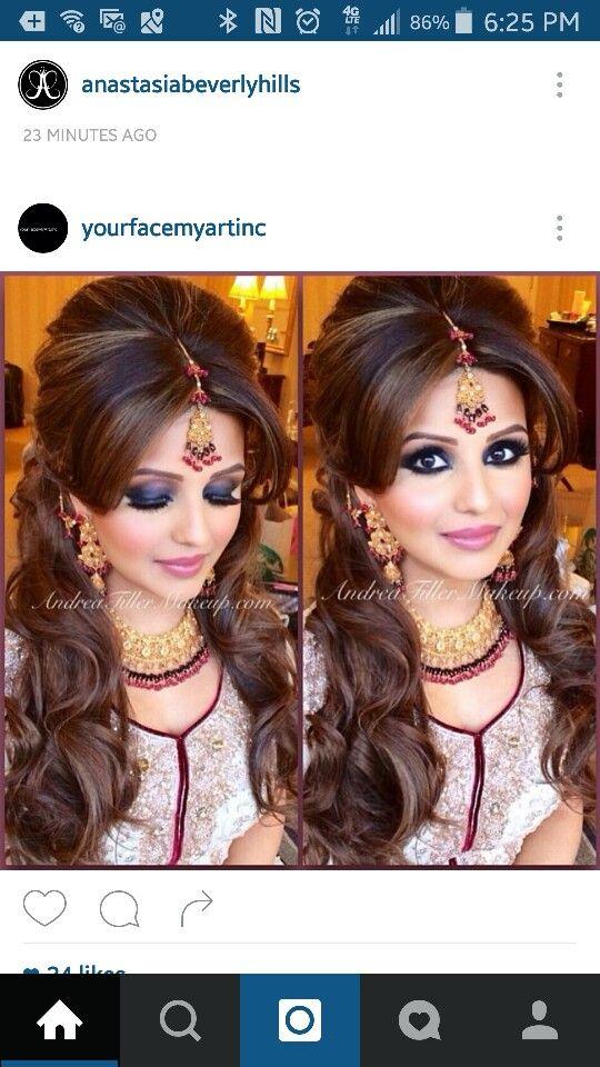 Indian Bridal Makeup Smokey Eyes Indian Party Hairstyles
