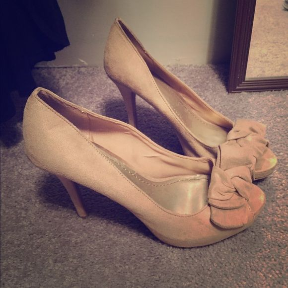 Beige heels Beige Heels , size 10 wide . From Payless . Only wore them once Shoes Heels