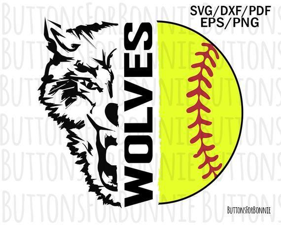 75d925fdd Wolves softball svg, wolves svg, softball svg, cut file, sport svg,  softball team svg, shirt design,