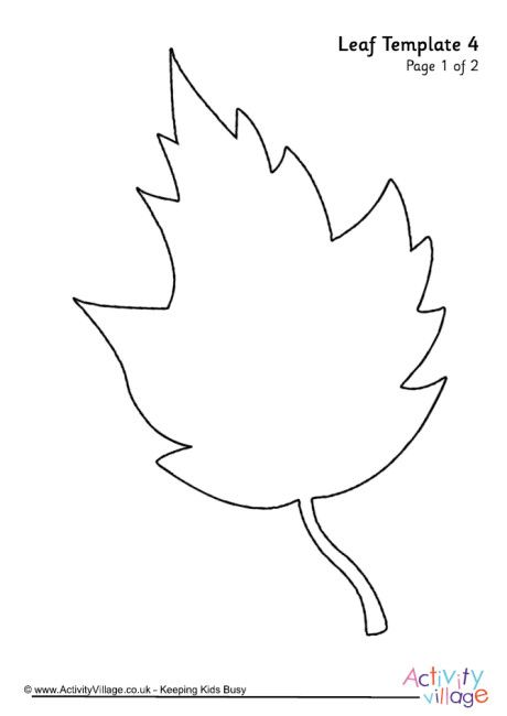 Leaf template 4 Sketches Pinterest Leaves and Crafts - leaf template
