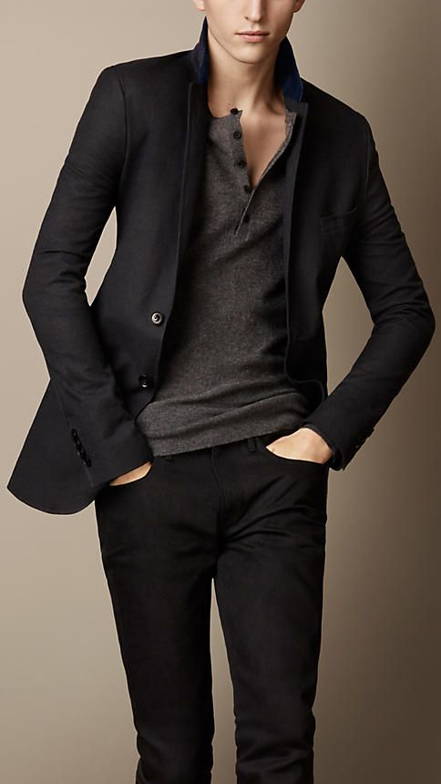 Oxford Jacket With Velvet Collar | Burberry