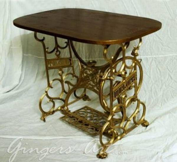 Great 22 Reuse And Recycle Ideas To Create Small Tables With Vintage Sewing  Machines