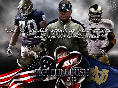 Go irish notre dame football 2012 the sporting life - Notre dame football wallpaper ...