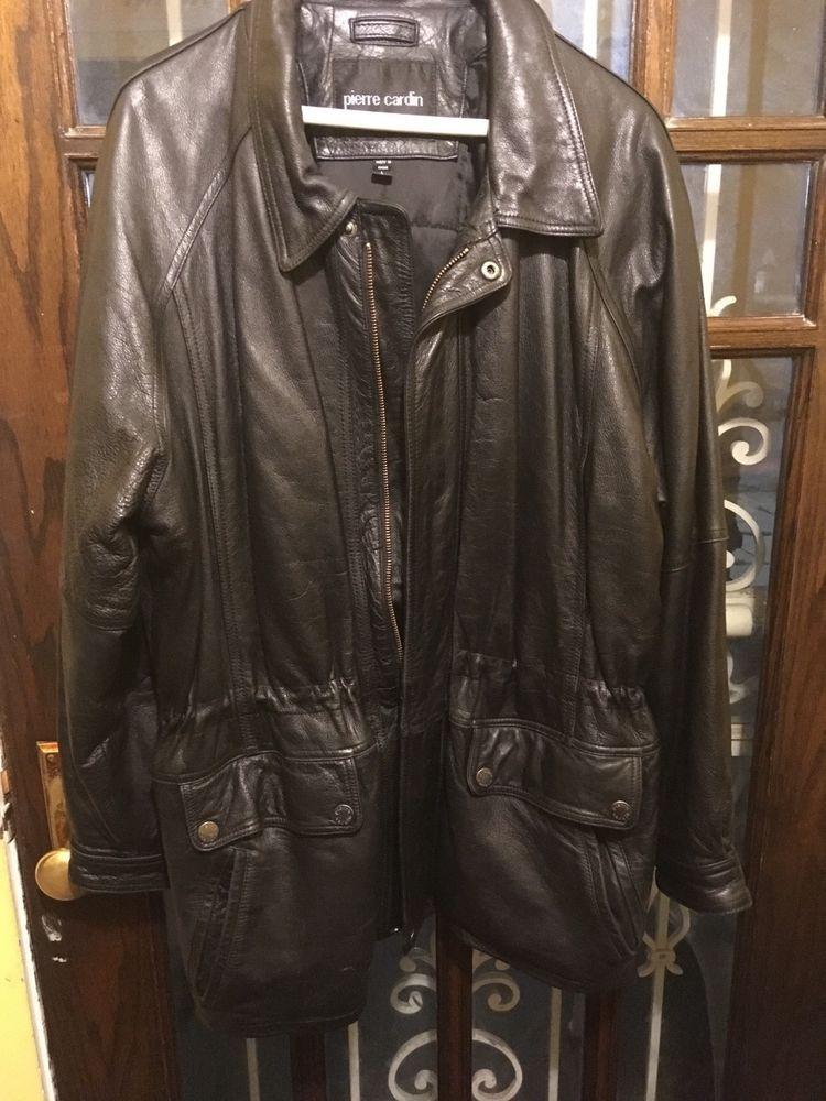 Pierre Cardin Men Leather Coat Large Fashion Clothing Shoes Accessories Mensclothing Coatsjackets Ad Ebay Link Leather Coat Coats Jackets Leather Men