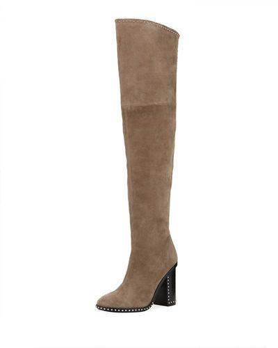 Belle by Sigerson Morrison Women's Mars Leather Over-the-Knee Boots CYOkuUq