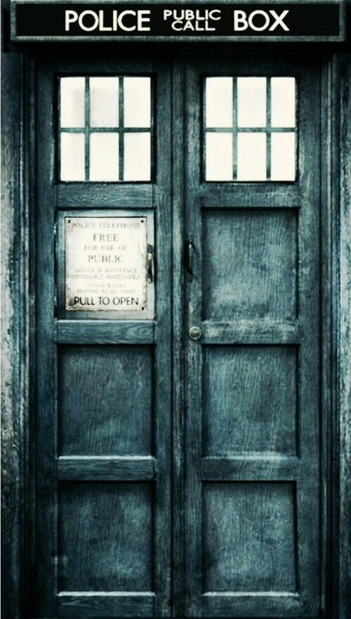 Doctor Who Tardis Doors iphone case