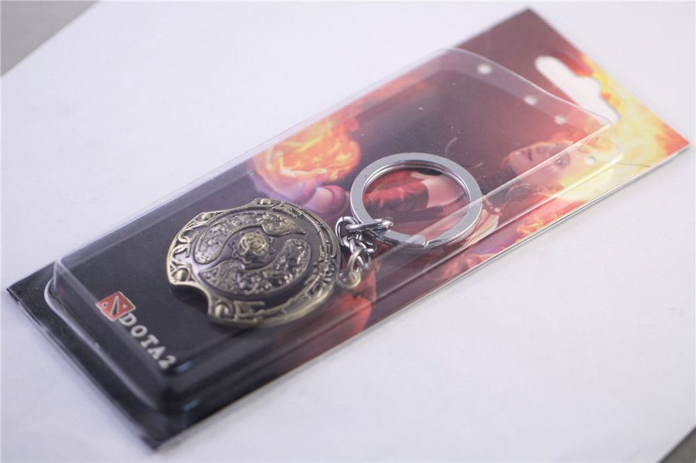 new dota 2 immortal champion shield key chain dota2 theme jewelry
