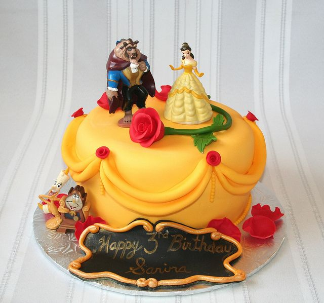 Beauty And The Beast With Images Belle Cake Birthday Cake