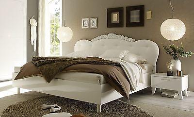 LC CLASSICO Bett Doppelbett Dea 180 x 200 cm weiß mit gepolstertem Kopfteil in Möbel & Wohnen, Kindermöbel & Wohnen, Möbel | eBay