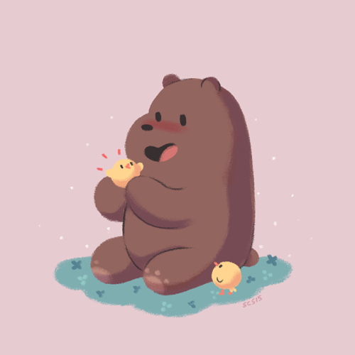 Baby Wallpaper We Bare Bears Grizz