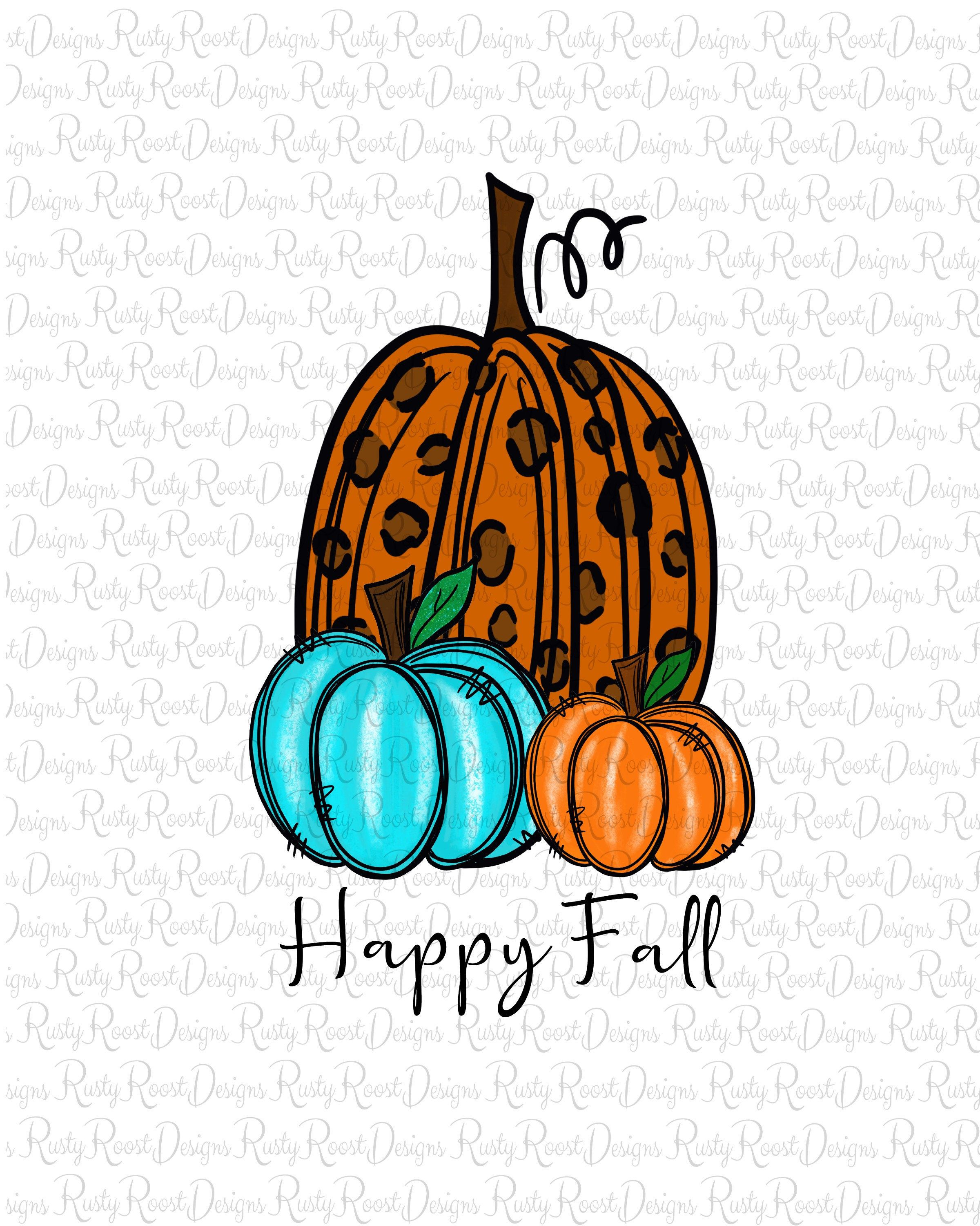 Happy Fall Pngfall Sublimation Designs Downloadssublimation Etsy How To Draw Hands Happy Fall Screen Printing