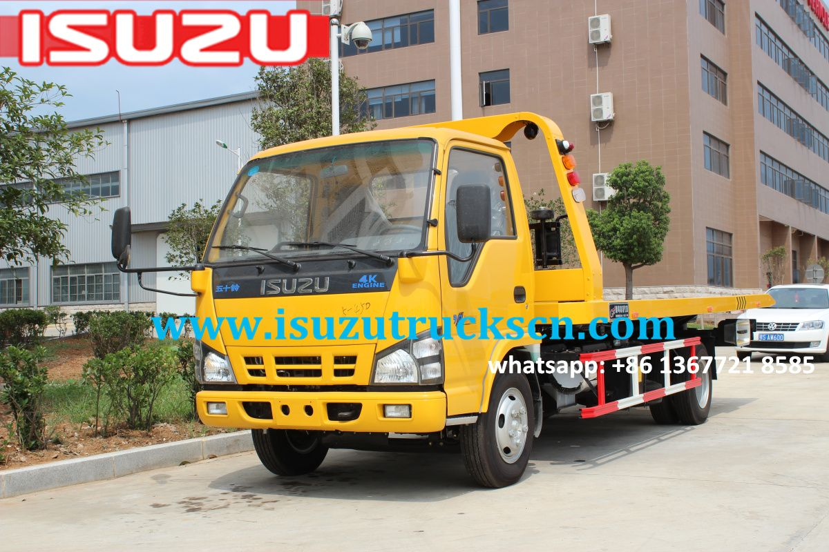 Africa 3ton rescue flatbed tow truck isuzu for sale http www isuzutruckscn